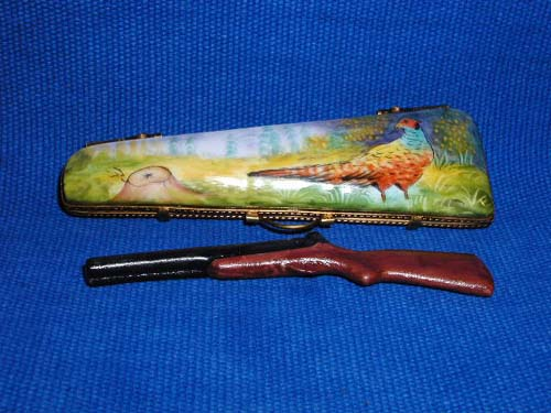 HUNTING CASE W/PHEASANT